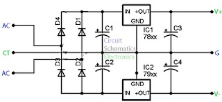 simple power supply schematic