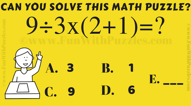 It is an Easy Maths Puzzle in which your challenge is to calculate the value of the given Mathematical equation quickly
