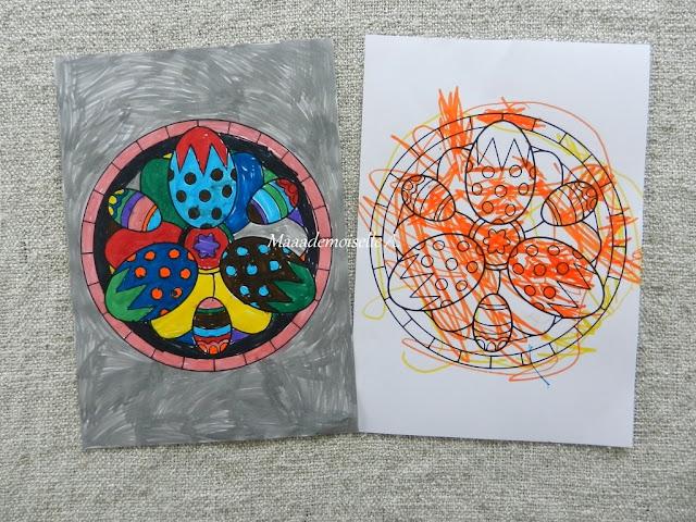 || Nos activités de Pâques coloriage mandala