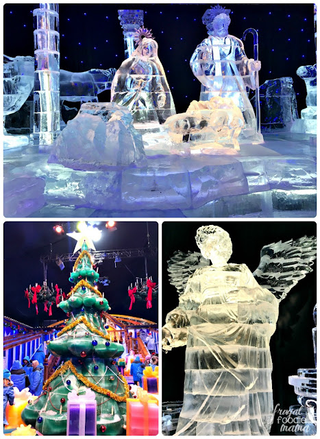 The ICE! exhibit at the Gaylord Texan in Grapevine features over 2 million pounds of colorful hand carved ice sculptures that depict the entire story of 'Twas the Night Before Christmas!