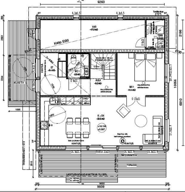 Design-Talo pohjapiirustus 148