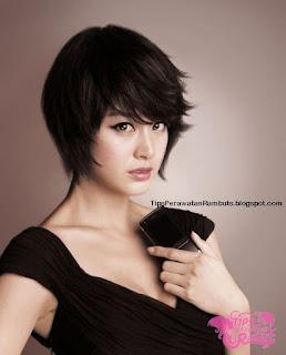 rambut wanita korea tomboy