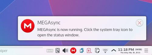 Ubuntu Buzz !: Install MEGASync Desktop Client in Kubuntu 15 04