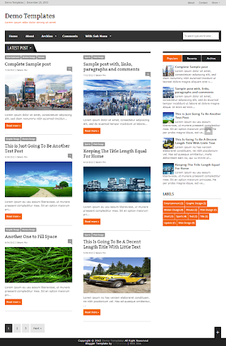 Extra News Orange Blogger Template