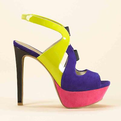 sandal high heels dengan perpaduan 3 warna model sandal. Black Bedroom Furniture Sets. Home Design Ideas