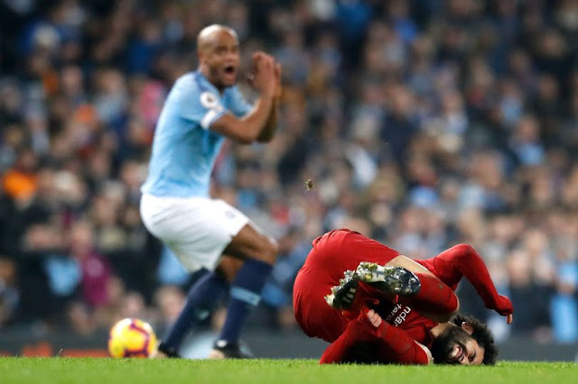 Video: Man City's Kompany Stands By His Tackle On Liverpool's Salah