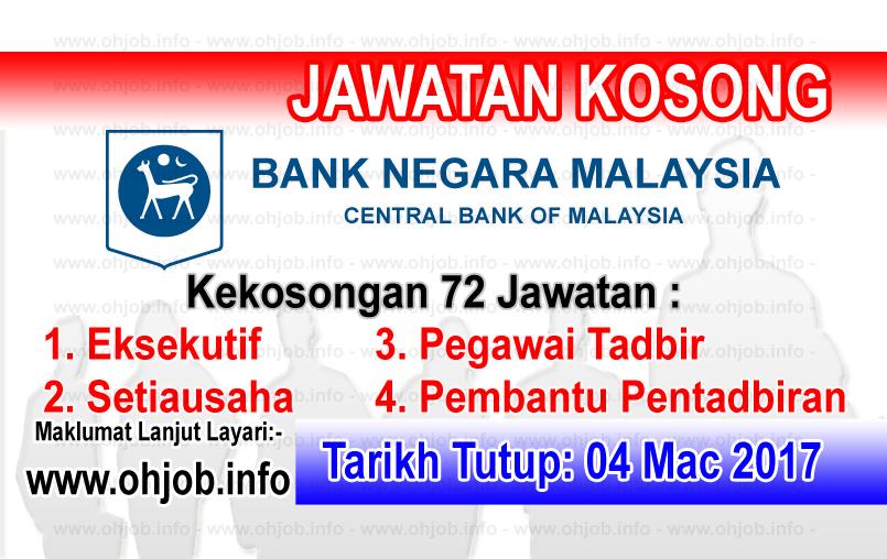 Jawatan Kerja Kosong Bank Negara Malaysia (BNM) logo www.ohjob.info mac 2017