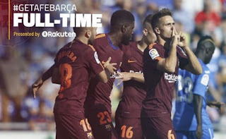 Getafe vs Barcelona 1-2 Video Gol & Highlights - La Liga Sabtu 16/9/2017.