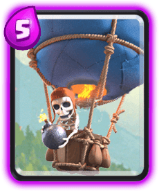 Carta do Balão do Clash Royale