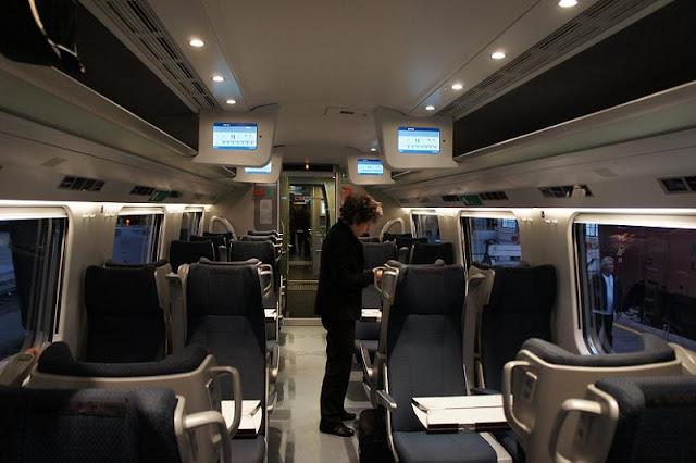 Primeira e segunda classe nos trens na Suíça