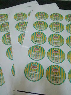 Label sticker untuk bekas kueh