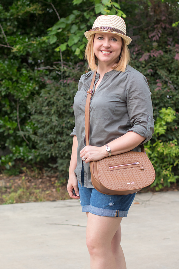 straw fedora weekend outfit