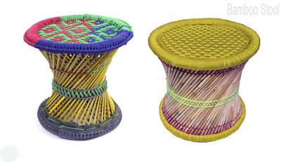 Bamboo stool,মোড়া