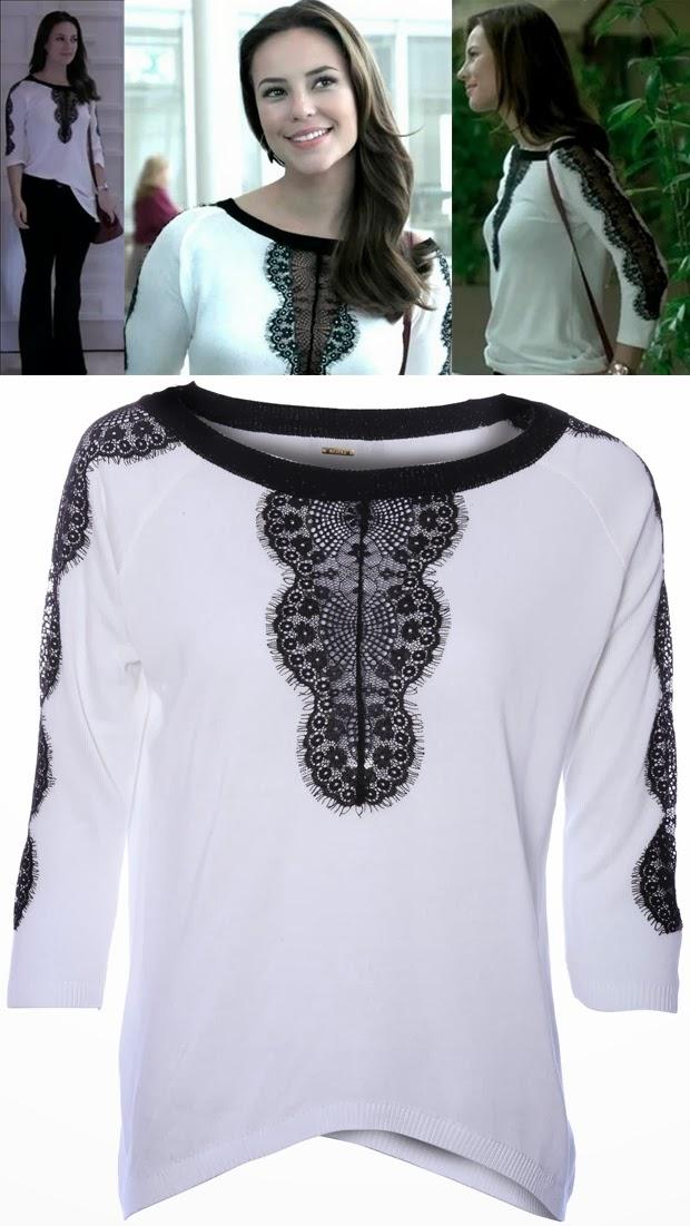 E a blusa da Letage usada pela Paloma na novela Amor à Vida foi uma das  mais pedidas na Globo pelo público através da Central de Atendimento  todas  querendo ... 934d4fa80a6
