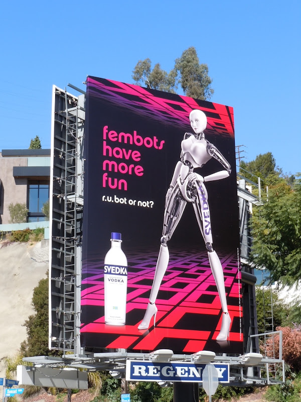 Svedka Vodka fembots have more fun billboard