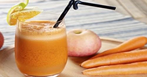 Batido de manzana zanahoria y almendras