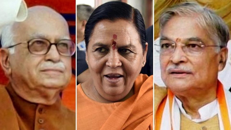 L.K. Advani, Uma Bharti, Murli Manohar Joshi are accused of being main characters in Babri mosque demolition