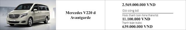 Giá xe Mercedes V220 d Avantgarde 2019 tại Mercedes Trường Chinh