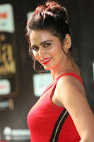 Meenakshi Dixit in Red One Shoulder Red Zipped up gown at IIFA Utsavam Awards012.JPG
