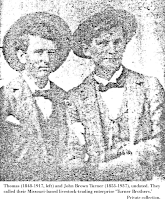 Image: brothers Thomas (left) and Brown Turner, private collection.