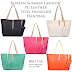 Korean Summer Fashion PU Leather Tote Shoulder Handbag