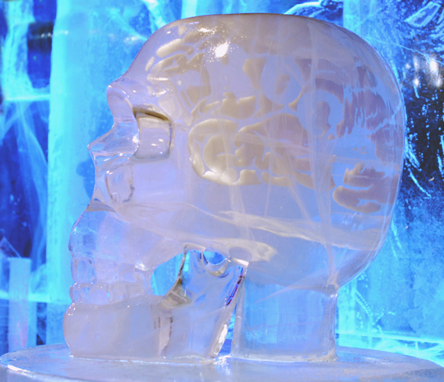 Ice Bar London Skull Sculpture