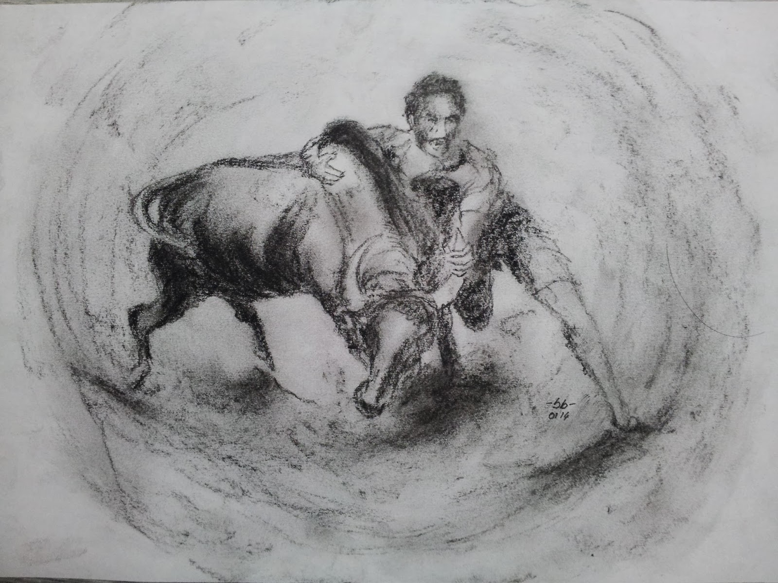 Pencil Drawing Jallikattu
