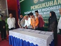 Pengurus BWI Perwakilan Kota Bandar Lampung Dikukuhkan