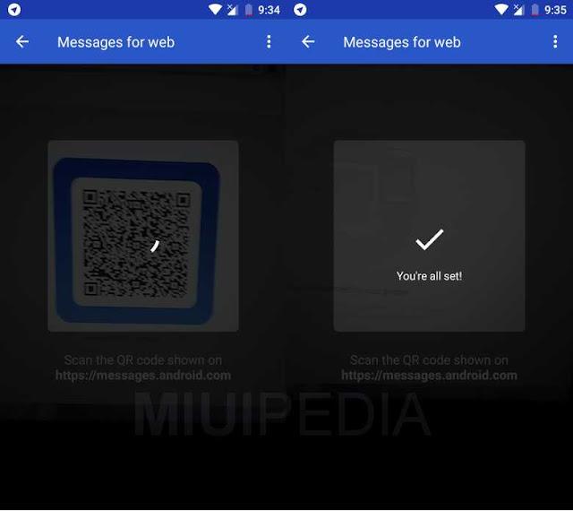 cara login web dengan android messages
