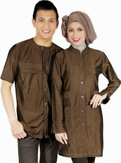 Baju couple muslim casual