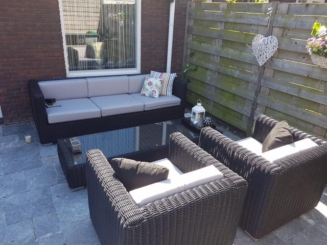 Luxe Loungeset Zwart.Arbrini Design Tuinmeubelen