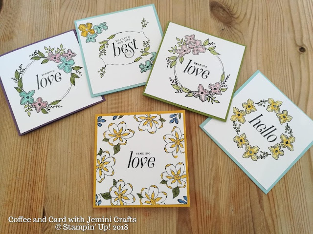 Quick and easy cards using Floral Frames Jemini Crafts UK
