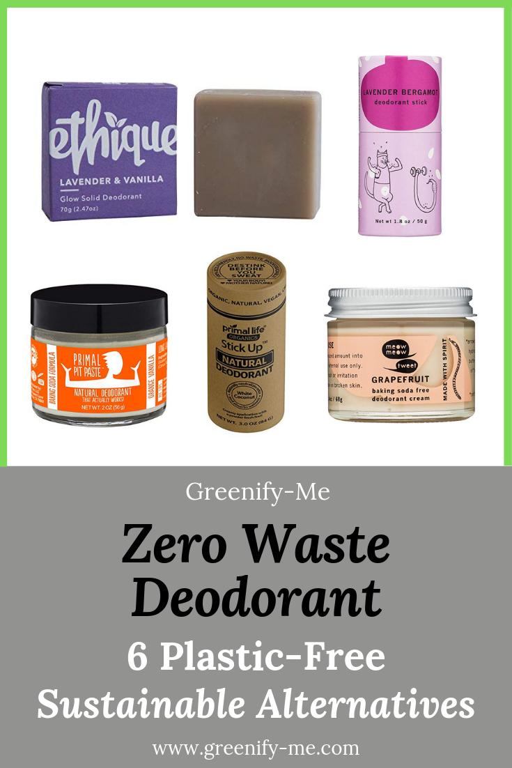 Zero Waste Deodorant: 6 Plastic-Free, Sustainable Alternatives - Greenify Me
