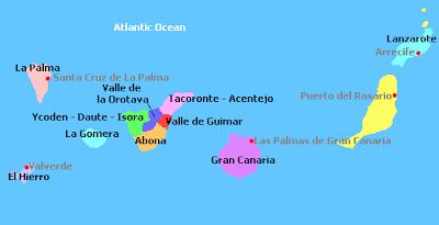 Mapa Politico De Canarias.Mapa Politico Islas Canarias Mapa