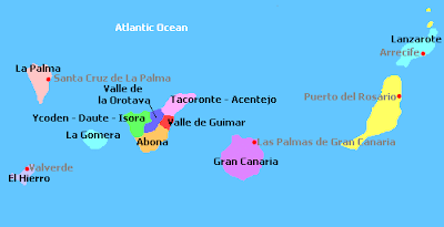 Islas Canarias Mapa Politico.Mapa Politico Islas Canarias Mapa