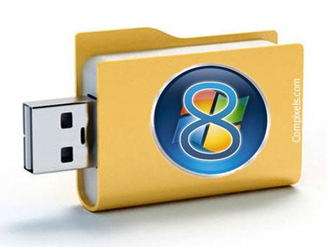 installer Windows 8 2 Go USB