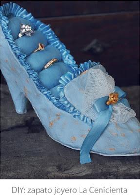 zapato joyero papel maché cartapesta la cenicienta