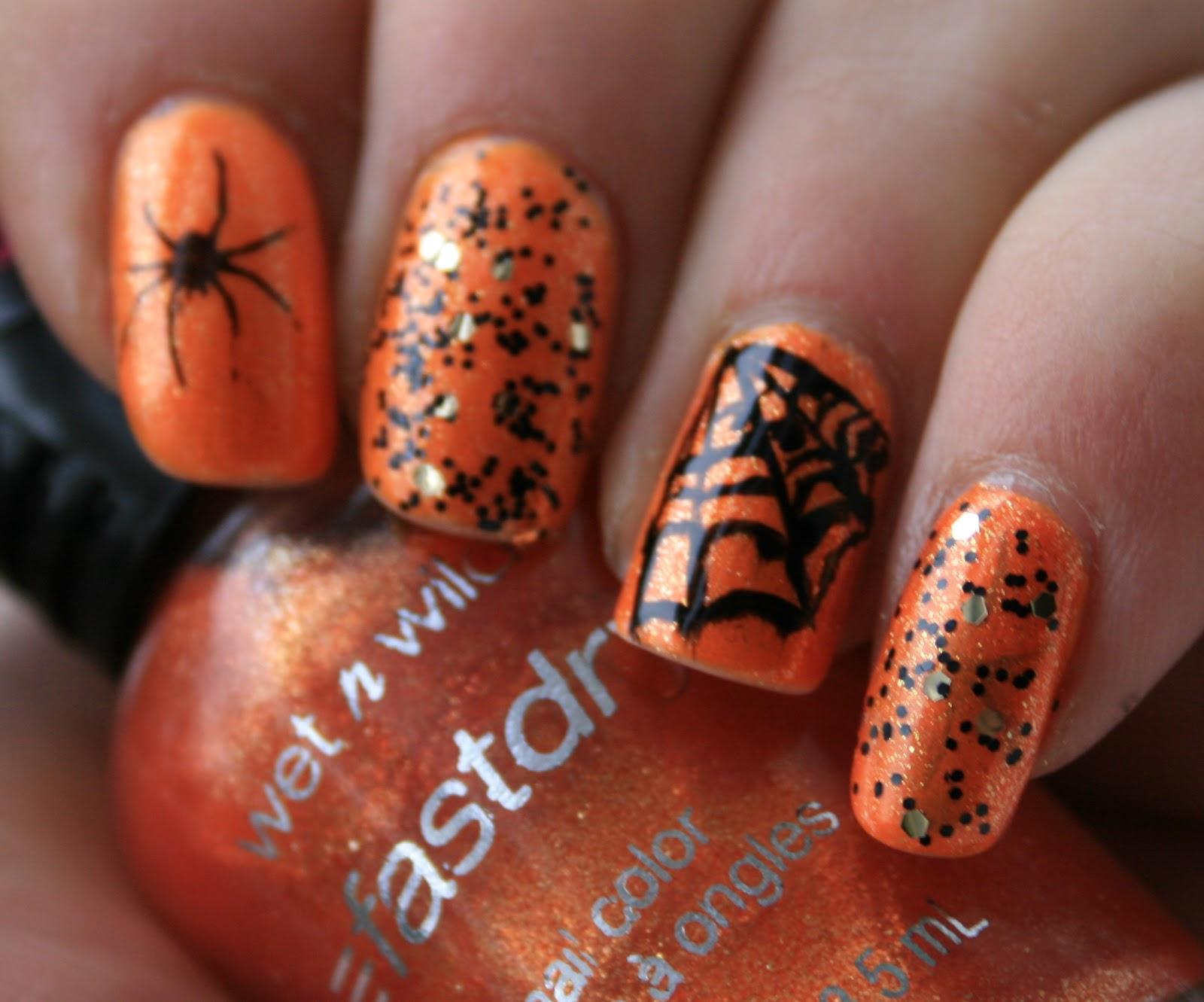 BeautyScraps: Halloween Nail Art with China Glaze Orange ...