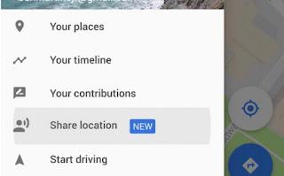 cara mengetahui berbagi lokasi melalui map
