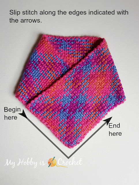 Planned Color Pooling Bohemian Cowl - Free Crochet Pattern