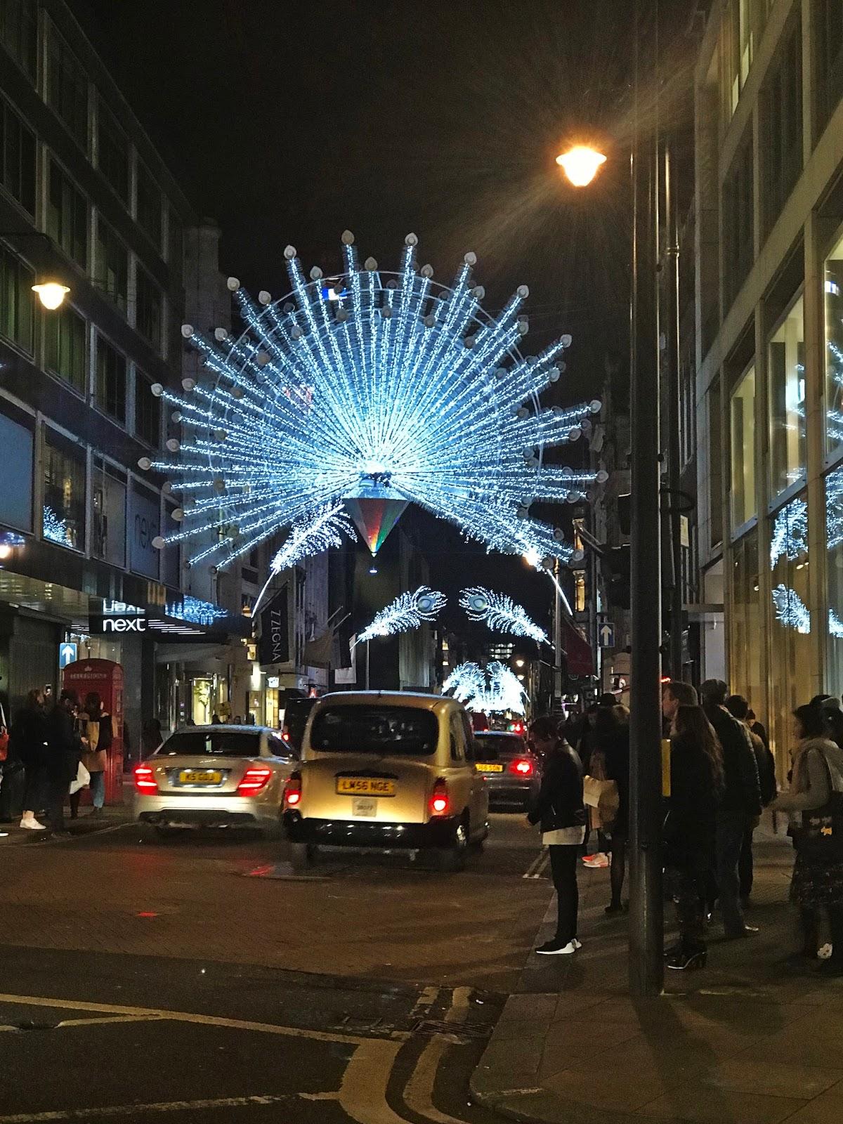 londyn dekoracje świetlne 2017