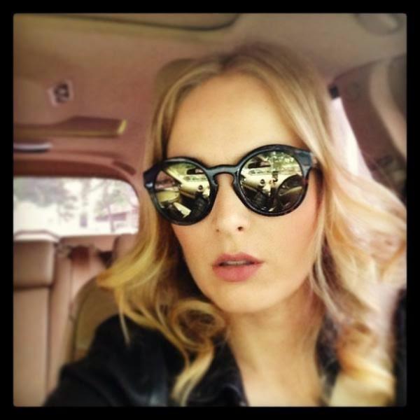 58bac1c81 Nada discretos os óculos redondos chamam atenção e são os novos queridinhos  das famosas. Angélica, Bruna Marquezine, Mariana Rios… todas aderiram aos  ...