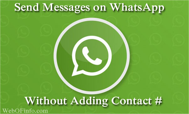 Tricky Ways to Send WhatsApp Message
