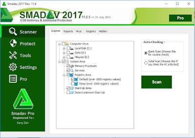 Smadav Pro Terbaru 2017 Rev 11.6.5 Full Serial Number