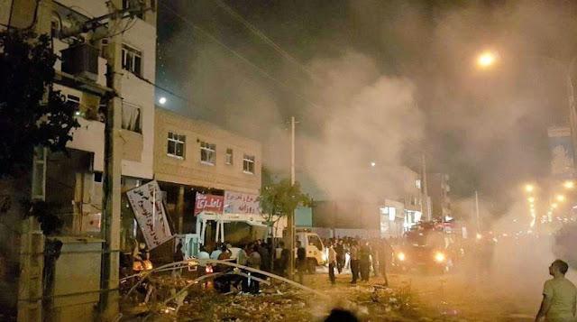 انفجار ضخم فى مركز تسوق فى إيران