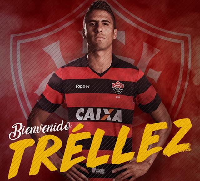 Vitória oficializa a contratação do atacante colombiano Santiago Trellez 1