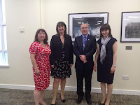 From left to right: Ming Ho, Sally-Ann Marciano, Professor Alistair Burns and Beth Britton (author, D4Dementia)