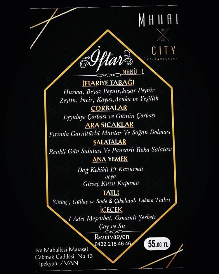 mahall city van iletişim mahall city van telefon van mahall cafe mahall city van ipekyolu van merkez iftar yerleri