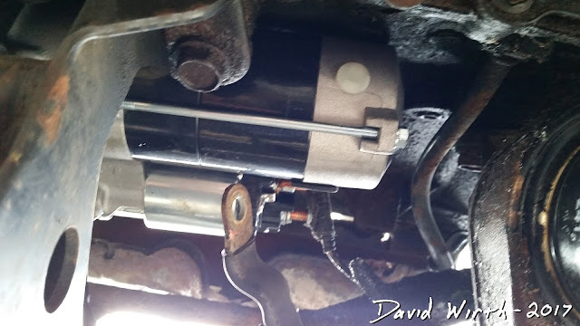 install new starter on town and country, gm, chrysler, dodge, caravan