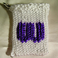Knitted W, monogram W, gift card holder